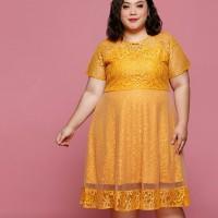dress brokat big size/dress midi brokat jumbo/dress brokat