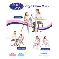 Baby Safe High Chair 3in1 Babysafe kursi makan bayi anak booster seat