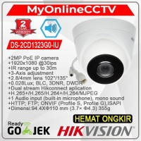 DS-2CD1323G0-IU Hikvision IP Camera CCTV Indoor 2MP Audio Mic POE WDR