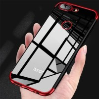 Softcase Honor 9 Lite Shiny Electro Plating Clear Chrome Soft Case