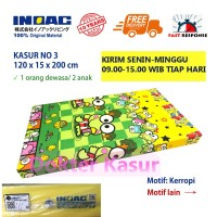 Kasur Busa Super ukuran no 3 Inoac Ori anti kempes 120 x 15 x 200 cm - spiderman