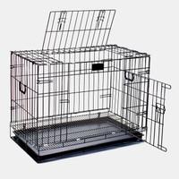 Kandang Besi Lipat Size L (78cmx46.5cmx57cm) Kucing / Anjing/Kelinci - Hitam