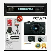 Canon Eos M200 Kit 15-45MM Paket 16GB&ACc-Kamera 4K Video Distri