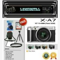 FujifilmXA7 KIT 15-45MM KAmera Mirrorless Original Free 32GB ACc