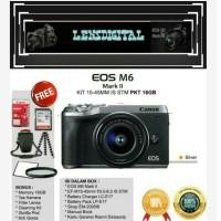Canon Eos M6 mark ll Kit 15-45MM Paket 16GB&Acc-Garansi Resmi