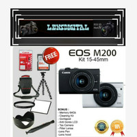 Canon EOS M200 KIT 15-45MM -KameraMirrorless4KVideoORIGINAL Unit only