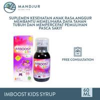 Imboost Kids Syrup Rasa Anggur 60 ML - Suplemen Daya Tahan Tubuh Anak
