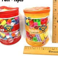 mainan edukasi lego block play n learn 204pcs