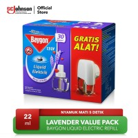 Baygon Liquid Elektrik Refill Lavender Value Pack 22ml