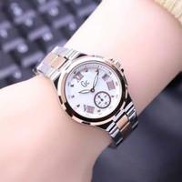 jam tangan WANITA, GC GUESS COLLECTION ,SECOND DIAL RANTAI - silvergold