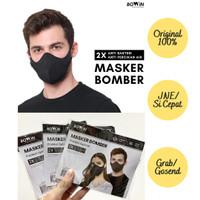 READY!! Masker Bomber Bowin-2x Anti Bakteri & Per(Masker Kain 4 Lapis)