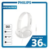 Philips BASS+ Headphone With Mic SHL 3075 - White