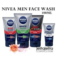 NIVEA MEN Facial Foam Extra White / Acne Clear / Oil Clear