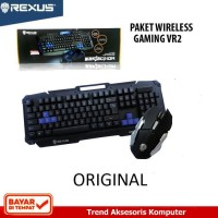 Rexus Gaming Keyboard Mouse Combo Wireless VR2 6D Warfaction - Hitam