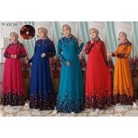 Baju Gamis Wanita Terbaru Gamis Jersey Jumbo 4L Gamis Busui 9-0138