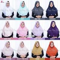 Jilbab Instan Serut Bergo Miulan Plain Laura Dewasa