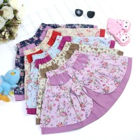 Rok anak usia 1-6 tahun/Rok katun motif bunga/5 warna