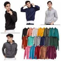 Hoodie / Jaket Sweater Hoodie Polos Pria Dan Wanita (BAHAN TEBAL)