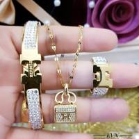 titanium set perhiasan wanita 2b08