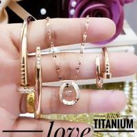 titanium set perhiasan wanita 2b28