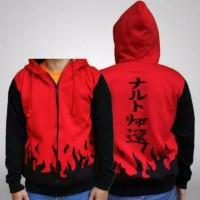 jaket sweater anak Naruto hokage yondaime Hoodie Zipper pria wanita