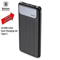 BASEUS Powerbank Thin Digital 10000mAh Power Bank Fast Charging 3A