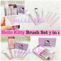 Kuas Hello Kitty Set/Kitty Brush Kaleng 7 in 1 / Make Up Brush