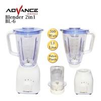 Advance - Blender 2in1 Wadah Plastik Kapasitas 1.5 Liter BL6