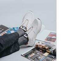 Lvnatica Sepatu Sneaker Pria Garreth White Kasual Outdoor Original - Putih, 40