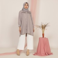 Baju Atasan Tunik Wanita Blouse Cewek Lengan Panjang V148 Khansa