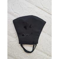 Masker Kain Earloop 3 Ply 1 pax ( Hitam, Navy dan Army ) - Hitam