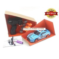 Huangbo rc drift mini SC24A08 1:24 2.4ghz 4wd LED mainan mobil remot