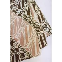 doby CHOCO PASTEL motif 4 coklat bahan kain batik cap katun dobby dobi