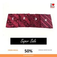 SALE DOBY KENCANA MERAH dobi dobby bahan kain batik lereng halus