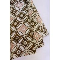 doby CHOCO PASTEL motif 6 coklat bahan kain batik cap katun dobby dobi
