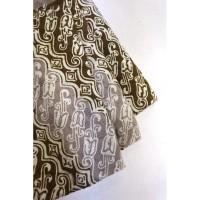 doby CHOCO PASTEL motif 2 coklat bahan kain batik cap katun dobby dobi