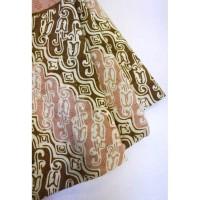 doby CHOCO PASTEL motif 3 coklat bahan kain batik cap katun dobby dobi