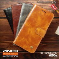 Wallet Leather Flip Case Samsung A20s Flipcase Cover Flipcover Casing