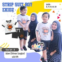 Ekidz Baju Anak Laki 1 - 8 Tahun Setelan Kaos Strip Suit Boy