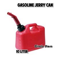Gasoline Jerry Can / Jerigen Bensin Plastik HDPE 10 Liter