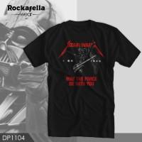 T-Shirt DP1104 Funny STAR WARS Metalica M, L, XL, XXL - Hitam, M