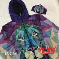 Paket Jaket Masker Branded Kenzo Lion Purple Windbreaker / YoWo