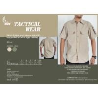 SRX 42 Ribstop Shirt Sleeve Pockets / Kemeja Ribstop Camo Tactical - Hijau, S