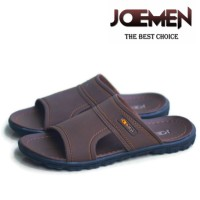 Sandal Kulit Joemen S 17 Sandal Kulit Pria Original Brand Import - Cream, 39