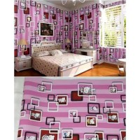 Wallpaper Sticker Hello Kitty Kotak 3D