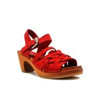 CLOGS Paula (Non Insole) - Red 7cm