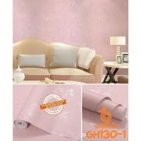 Home Wallpaper Sticker Dinding Pink Rose Flower - 45cm x 10 m