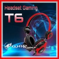Headset Gaming WARWOLF T-6