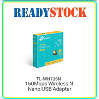 TP-LINK TL-WN725N WIRELESS N NANO SIZE USB ADAPTER 150MBPS