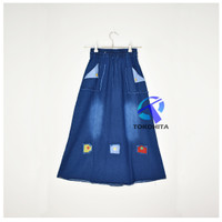 Rok Jeans Tambal Tambal Anak Tanggung Usia 9-13 Tahun